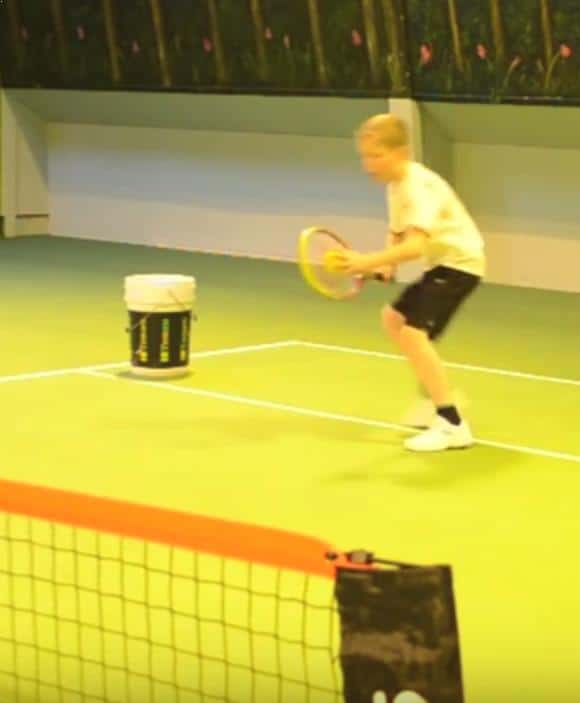 catch and drop tennis drill