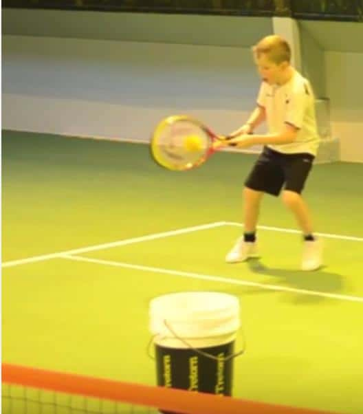 two racquet drill